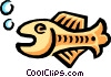 Vector Clip Art graphic  of a Fish symbol