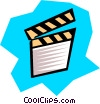Vector Clip Art graphic  of a Clapper board