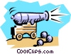 Vector Clip Art image  of a cannon