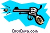 Vector Clip Art graphic  of a Hand gun