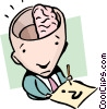 Vector Clipart graphic  of a Half-a-brain