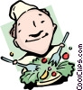 Vector Clip Art graphic  of a Salad days