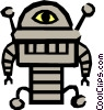 Vector Clip Art graphic  of a Robot