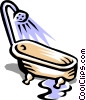 Vector Clipart graphic  of a Bathtub