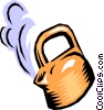 Hot water kettle Vector Clipart picture