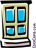 Vector Clip Art graphic  of a Window