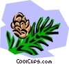 Vector Clip Art picture  of a Fur tress