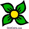 Vector Clip Art graphic  of a Flower symbol