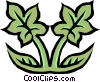 Vector Clipart graphic  of a Floral leaf design