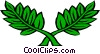 Vector Clipart illustration  of a Floral leaf design