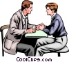 Vector Clipart picture  of a Romantic encounter at coffee