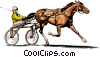 Vector Clipart picture  of a Trotter race horse