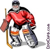 Hockey goalie Vector Clipart picture