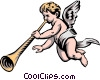 Vector Clipart image  of an Angel