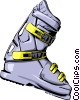 Ski boot Vector Clipart illustration