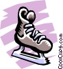 Vector Clip Art graphic  of a Skates