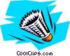 Shuttlecock Vector Clipart illustration