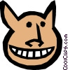 Vector Clipart graphic  of a Funny face