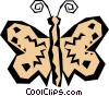 Vector Clip Art picture  of a Woodcut butterfly
