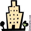 Vector Clipart image  of a Building