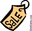 Vector Clip Art image  of a Price tags