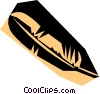 Vector Clipart graphic  of a Woodcut feather