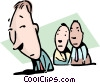 Odd man out Vector Clip Art picture