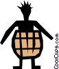 Vector Clipart graphic  of a Barrel