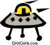Vector Clip Art graphic  of a UFO