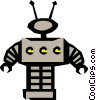 Vector Clipart picture  of a Robots