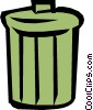 Vector Clip Art picture  of a Garbage can