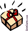 Vector Clipart graphic  of a Gift