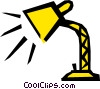 Desk lamps Vector Clipart graphic