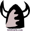 Vector Clip Art image  of a Viking helmet