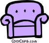 Vector Clipart illustration  of a Sofa
