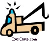 Tow truck Vector Clipart illustration