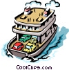 Ferryboat Vector Clip Art graphic