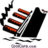 Vector Clipart picture  of a Titanic