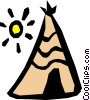 Vector Clip Art graphic  of a Teepee