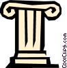 Vector Clipart graphic  of a Pedestal