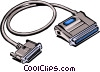 Computer cable Vector Clipart graphic
