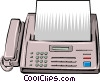 Vector Clipart graphic  of a Fax telephone