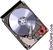 Hard disk Vector Clipart illustration