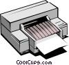 Vector Clip Art graphic  of a Computer printer