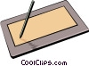 Digitizing tablet Vector Clipart picture