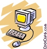 Vector Clip Art graphic  of a Computer symbol