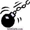Vector Clipart picture  of a Ball & chain