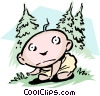 Babe in the woods Vector Clip Art image