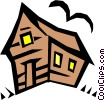 Vector Clip Art graphic  of a Haunted house