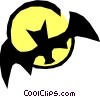 Vector Clipart graphic  of a Bat